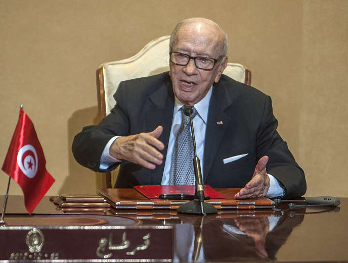 Le chef de l'Etat tunisien, Béji Caïd Essebsi (ici en octobre 2018), est mort à l'âge de 92ans, a annoncé la présidence tunisienne, jeudi 25juillet.