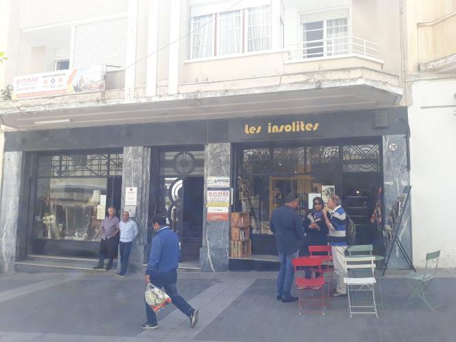 La librairie-galerie Les Insolites, rue Velasquez, à Tanger.
