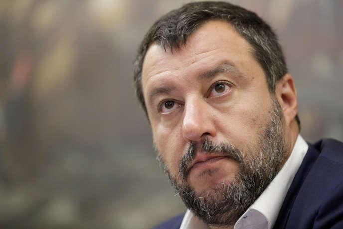 Le ministre italien de l'intérieur, Matteo Salvini, le 25 juillet.