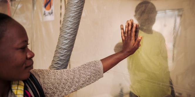 Dans un centre Ebola de l'ONG ALIMA, à Butembo, dans l'est de la République démocratique du Congo (RDC), en juin 2019.