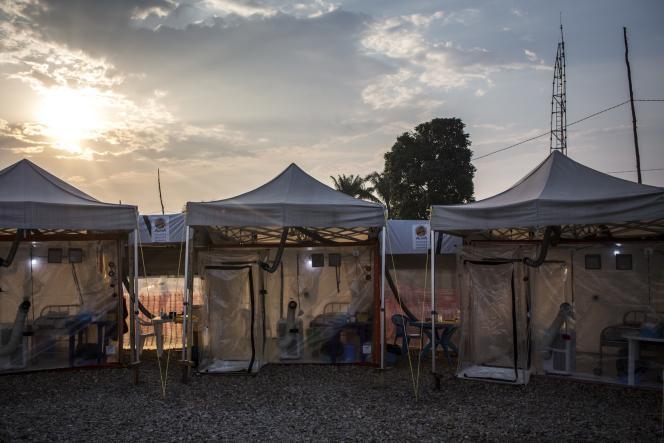 A Beni, dans l'est de la République démocratique du Congo, un centre Ebola de l'ONG Alima, en août 2018.