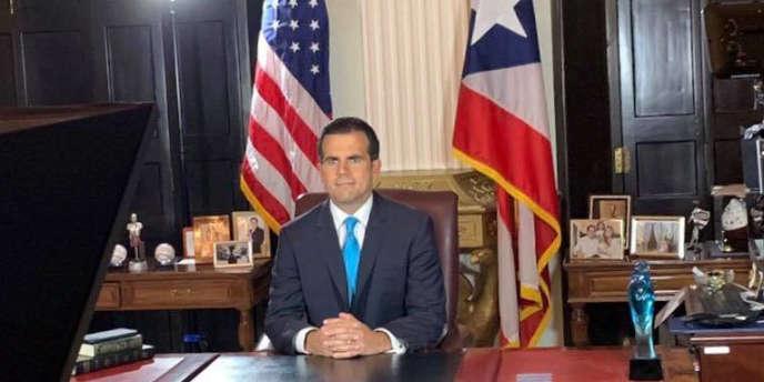 Le gouverneur de Porto Rico, Ricardo Rossello, annonce dans une video sa démission, le 25 juillet.