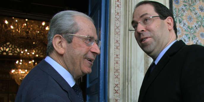 Le président de l'Assemblée des représentants du peuple avec le premier ministre Youssef Chahed, va diriger la Tunisie par intérim après la mort, le 25 juillet 2019, de Caïd Béji Essebsi.