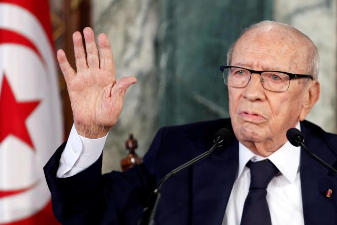 Béji Caïd Essebsi, à Tunis, 8 novembre 2018.