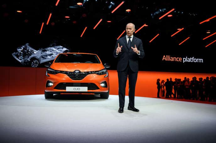 Thierry Bolloré, directeur général de Renault, le 5 mars 2019 au Salon de l'automobile de Genève.