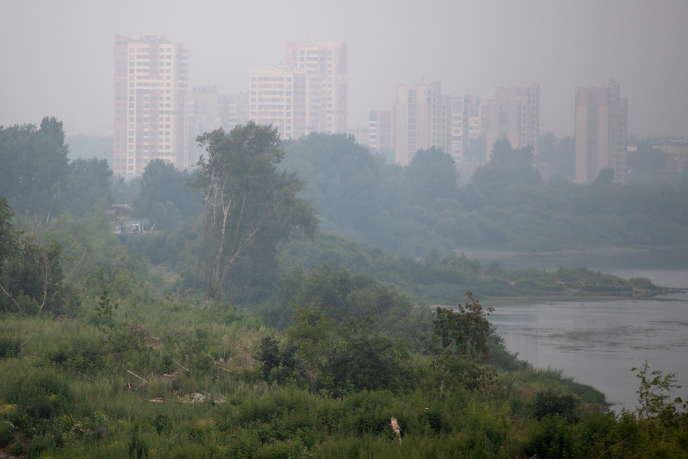 La ville de Kemerovo enfumée, le 25 juillet 2019.