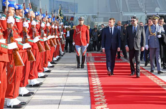 Emmanuel Macron et Mohammed VI à Rabat, le 15 novembre 2018.