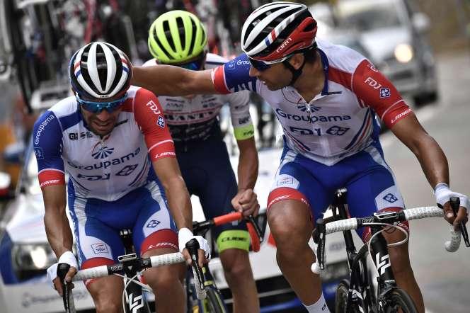 Thibaut Pinot au moment de son abandon du Tour de France, le 26 juillet 2019.