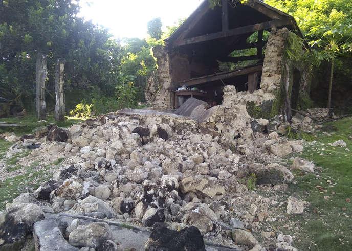 A Itbayat, ville touchée par deux séismes le 27 juillet.