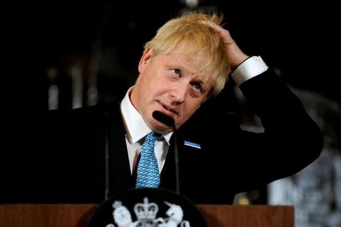 Le premier ministre britannique, Boris Johnson, à Manchester le 27 juillet.