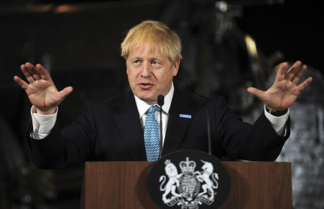 Le premier ministre britannique Boris Johnson, samedi 27 juillet, à Manchester.