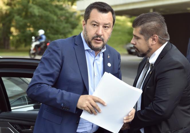 Le ministre italien de l'intérieur, Matteo Salvini, en visite à Helsinki, le 18 juillet.