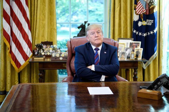 Le président américain Donald Trump à la Maison Blanche à Washington, le 26 juillet.