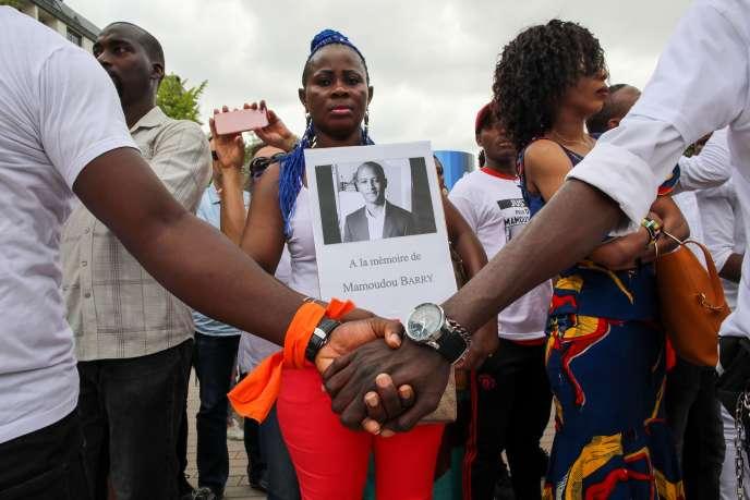 Marche blanche en hommage à Mamoudou Barry à Rouen (Seine-Maritime), le 26 juillet.