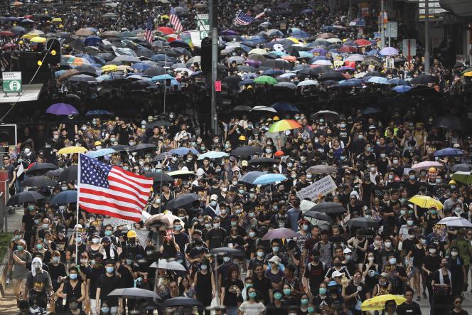 Manifestation à Hongkong, le 28 juillet.
