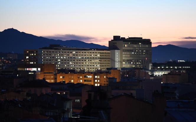 Le 19 décembre 2017, une vue sur l'hôpital de La Timone, à Marseille, dans le sud de la France.