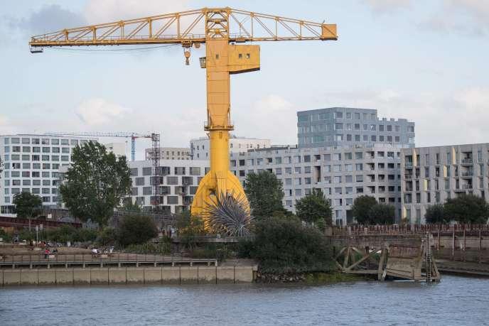 Le corps de Steve Maia Caniço a été repéré dans un bras de Loire appelé «bras de la Madeleine», à hauteur de la grue Titan jaune, le 29 juillet à Nantes.