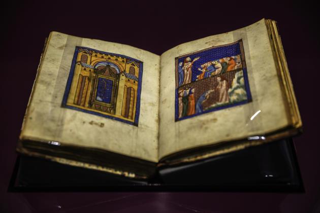 La Haggadah de Sarajevo, le fameux manuscrit enluminé du XIVe siècle contenant le récit de l'exode des Hébreux d'Egypte,est aujourd'hui conservée au Musée national de Sarajevo.