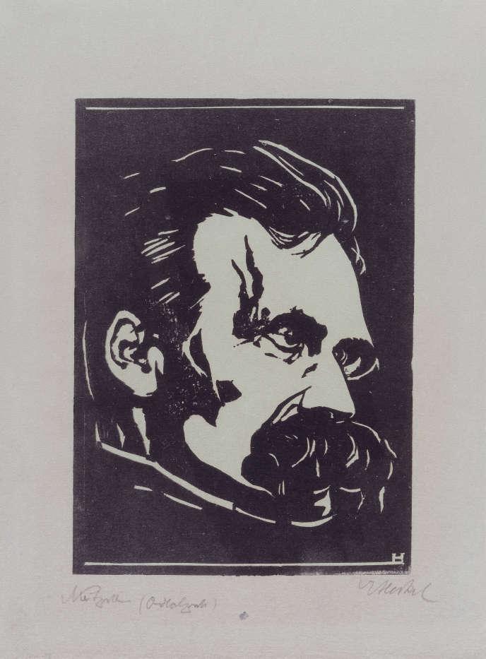 Un portrait de Nietzsche par Erich Heckel.