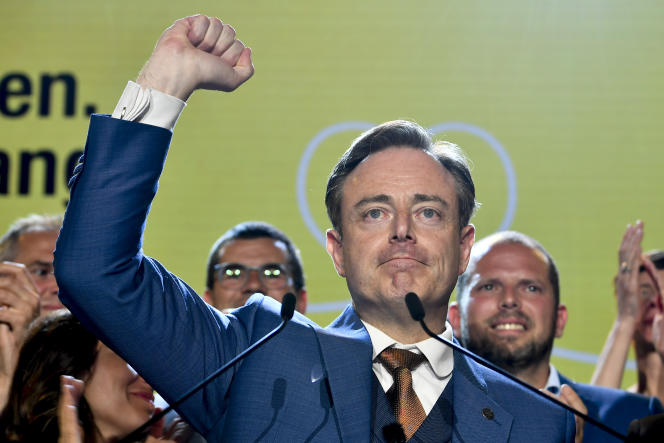 Le leader des nationalistes flamands, Bart De Weve, après le scrutin du 26 mai 2019.