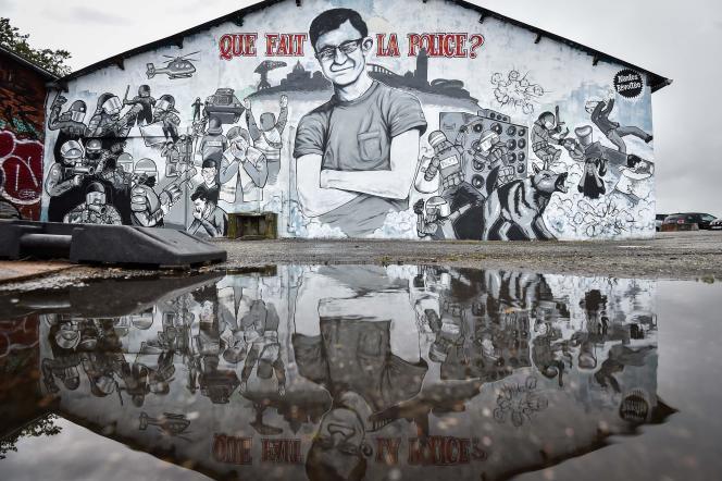 Un portrait de Steve Maia Caniço a été peint par des artistes à Nantes, en hommage au jeune homme.