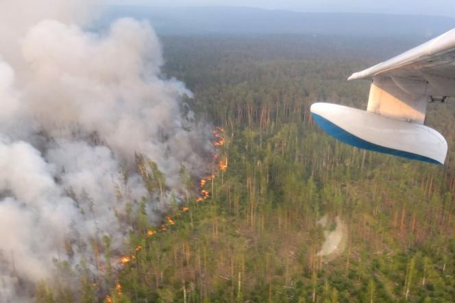 Photo publiée par les autorités russes, prises, dans la région de Krasnoïarsk, le 30 juillet.
