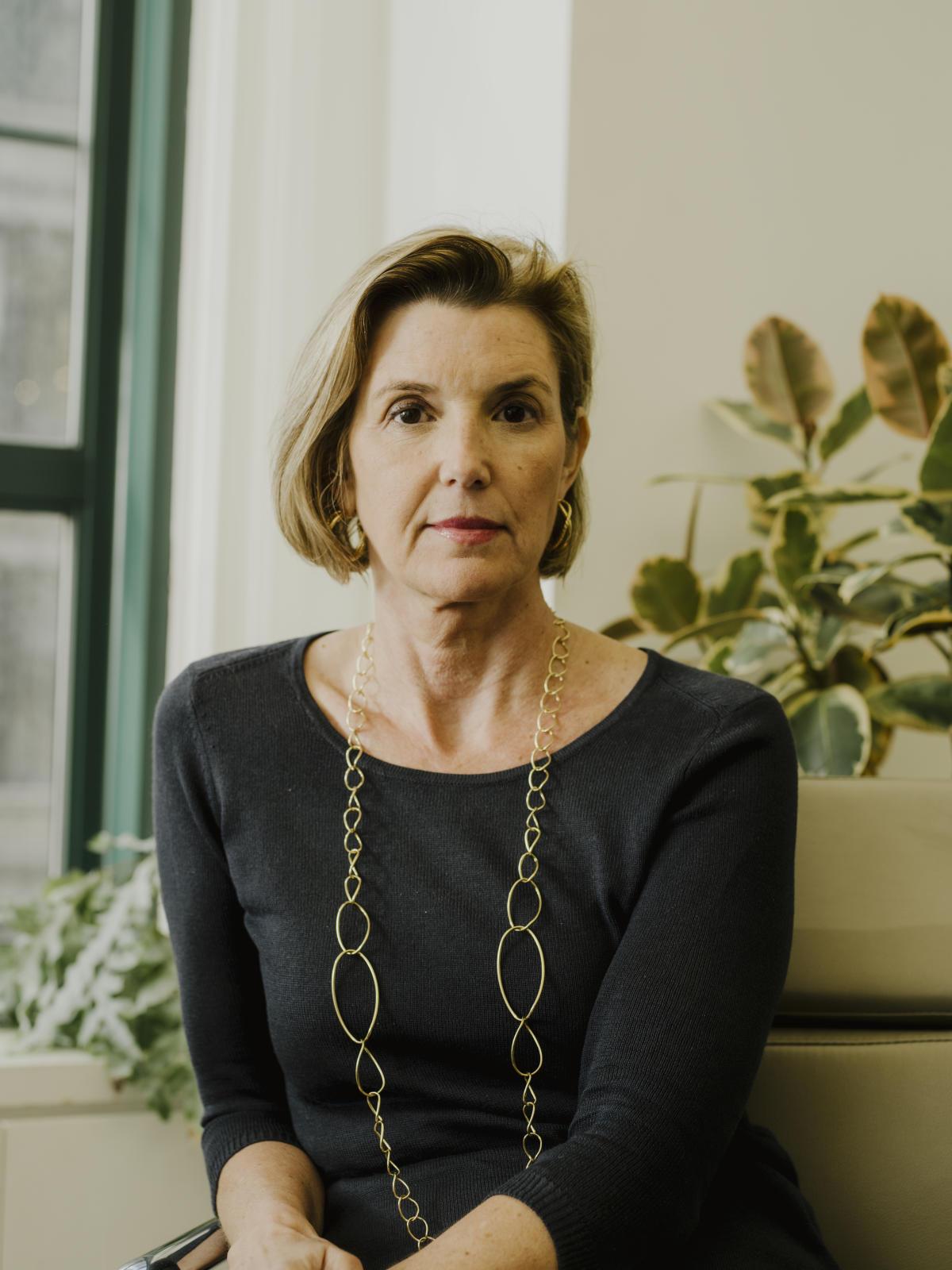 Sallie Krawcheck dans son bureau de Chelsea, à New York, le 8 mai.