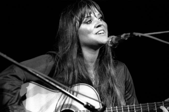 La chanteuse Melanie à Woodstock, en 1969.