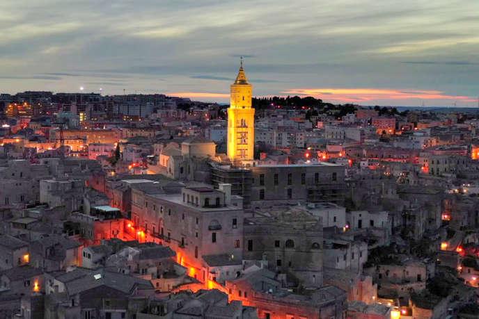 Le centre-ville historique de Matera.