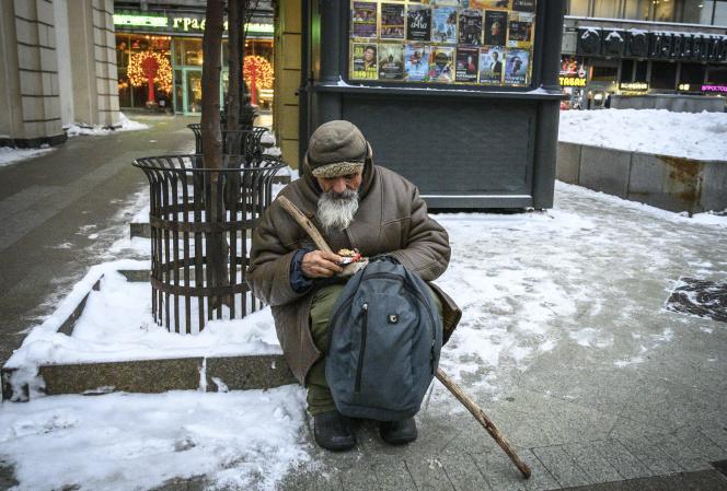 Dans une rue de Moscou, le 27 décembre 2018.