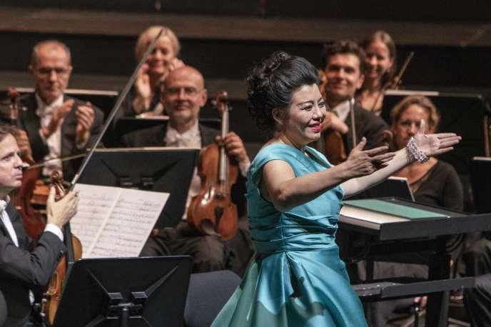 La soprano chinoise Hui He dans «Adriana Lecouvreur», le 31 juillet à Salzbourg.