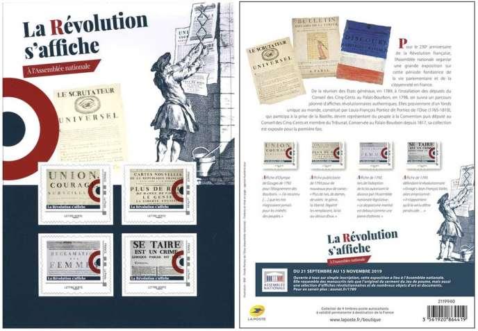 Collector de quatre timbres émis dès le 21 septembre, vendu 5 euros.