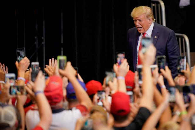 Lors d'un meeting de Donald Trump, à Cincinnati (Ohio), le 1er août.