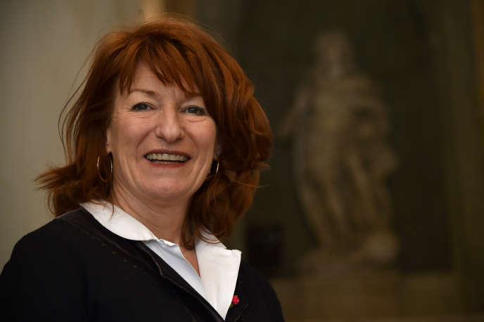 Muriel Mayette-Holtz à la Villa Médicis à Rome, en mars 2016.
