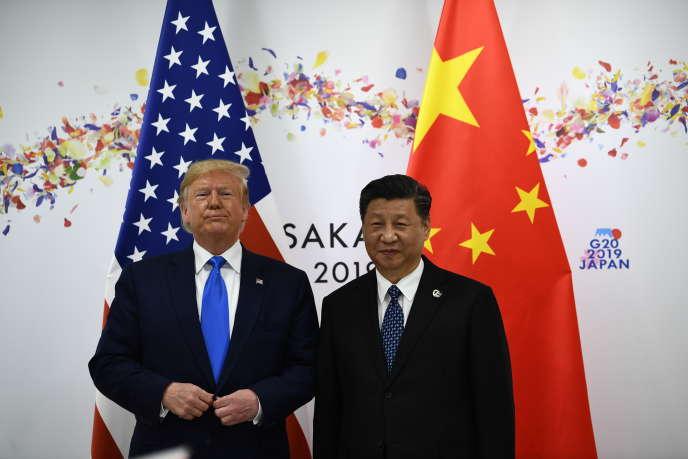 Donald Trump etXi Jinping au G20 d'Osaka (Japon), le 29 juin 2019.