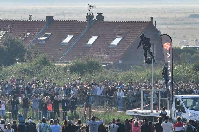 Franky Zapata décolle de Sangatte.