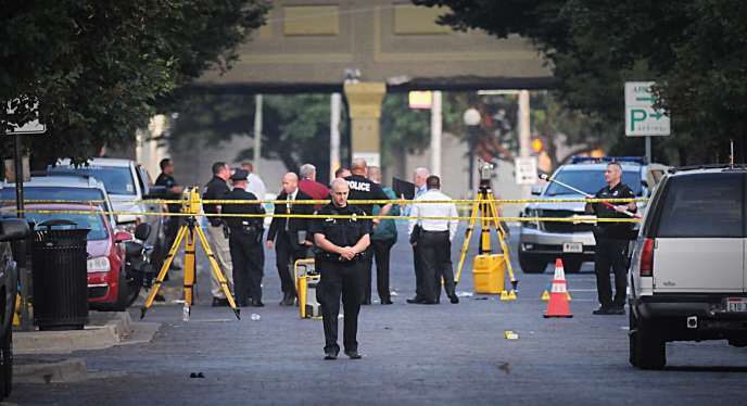 A Dayton, le lendemain d'une fusillade qui a fait neuf morts et une vingtaine de blessés.