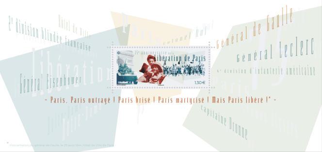 Feuillet-souvenir philatélique tiré à 30000 exemplaire, en vente générale le 26 août.