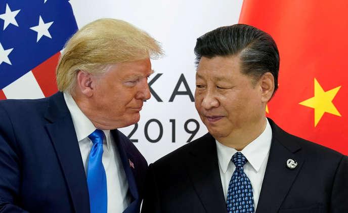 Donald Trump et Xi Jinping, le président chinois, au sommet du G20 à Osaka (Japon), le 29 juin.
