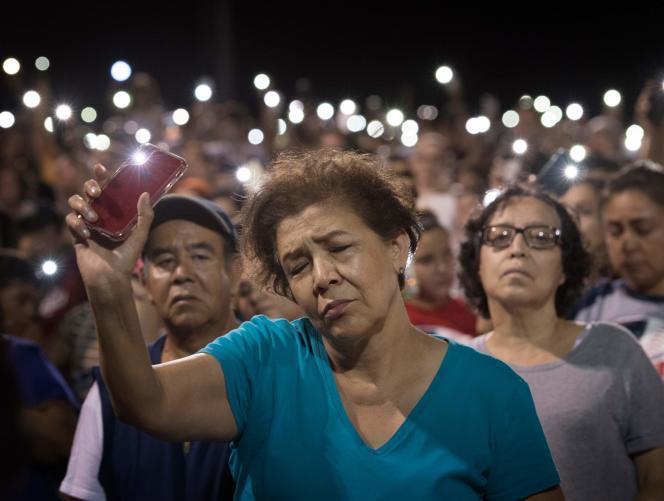 Pendant un hommage à El Paso, le 4 août.