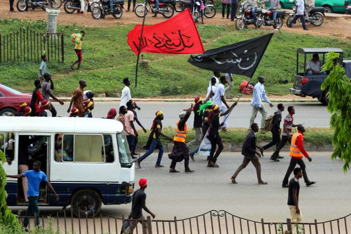 Des membres du Mouvement islamique du Nigeria manifestent à Abuja, le 29octobre 2018.