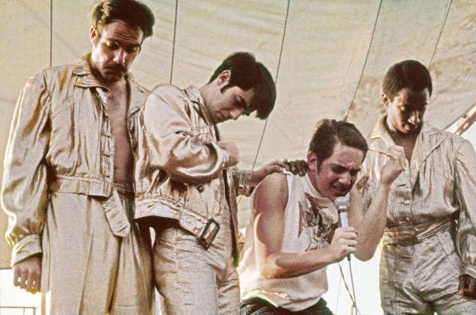 Le groupe Sha Na Na sur scène le 18 août 1969 à Woodstock.