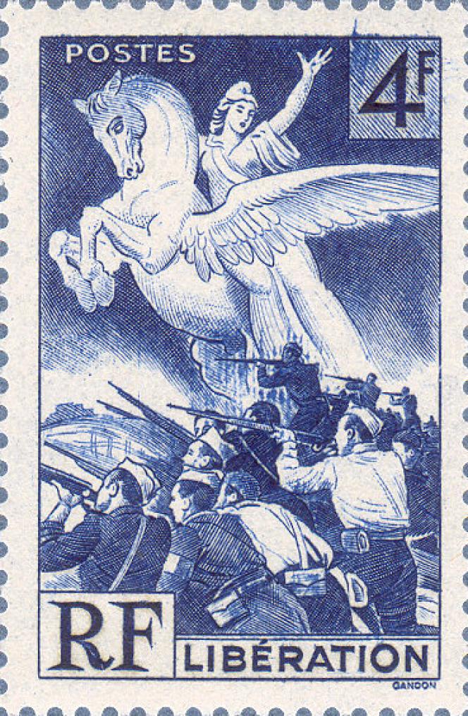 Un timbre dessiné et gravé par Pierre Gandon, paru le 16 janvier 1945 tiré à 7592000 exemplaires.