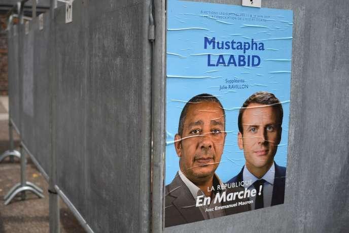 Une affiche électorale à Bruz (Ille-et-Vilaine), en 2017.