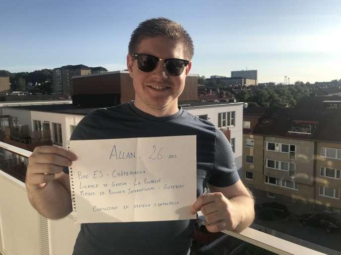 Allan, 26ans, a décidé de poursuivre ses études à la faveur d'un échange universitaire en Finlande.