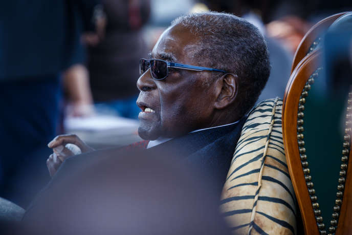 L'ancien président Robert Mugabe à Harare, au Zimbabwe, le 29juillet 2018.