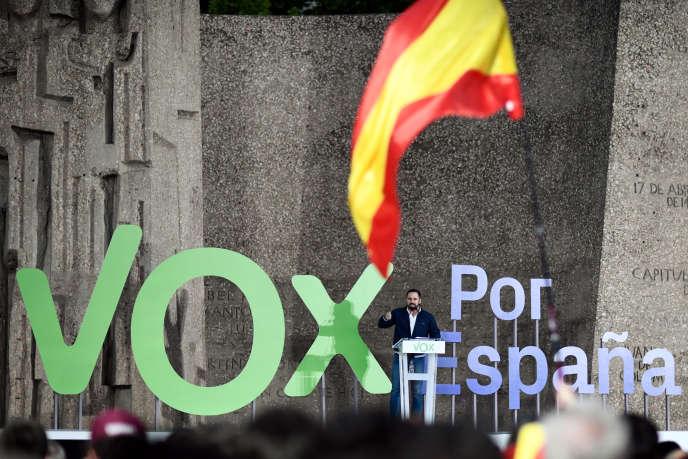 Campagne de Vox en avril à Madrid.