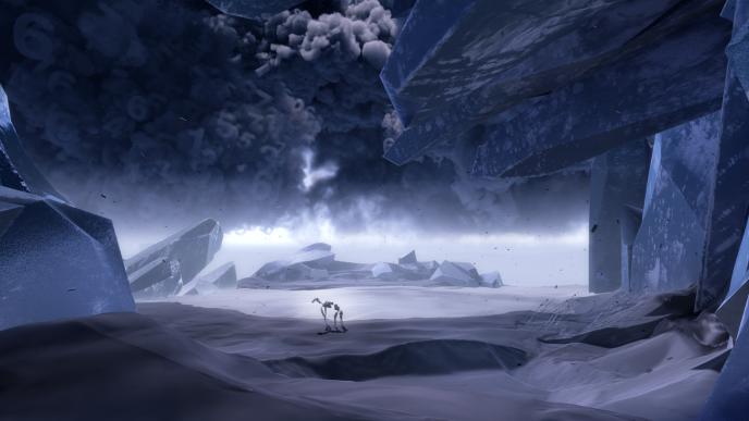 Les bêtes de papier d'Eric Chahi, oasis de vie au milieu d'un monde virtuel menaçant.