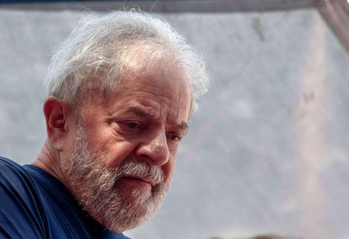 Inacio Lula da Silva en avril 2018 à Sao Paulo.