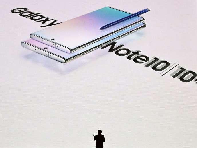 Présentation du Galaxy Note 10, le 7 août, à New York.